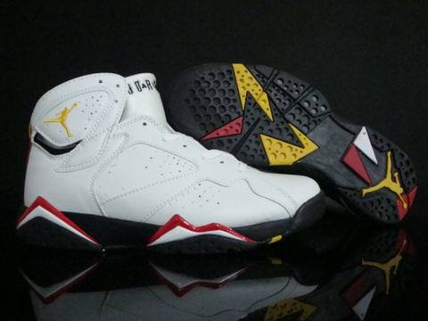 Air Jordan 7 Retro Shoes White/Yellow/Red